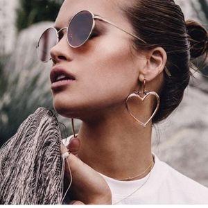 Jewelry - 3/$20...Double Heart Rose Gold Hoop Earrings